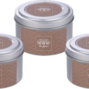 Set of 3 Tin Fragrance candle