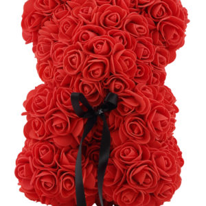 Artificial Rose Teddy Bear