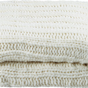 Knitted Chenille Blanket